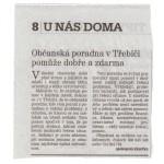 Tým Občanské poradny Třebíč děkuje za pozitivní hodnocení naší služby Zdroj: Třebíčský deník
